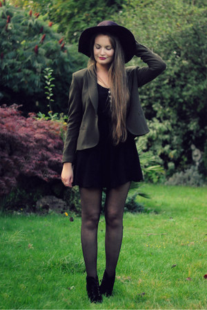 Forever 21 hat - H&M hat - dress - Zara blazer