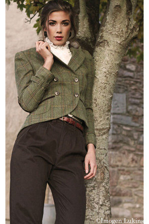 dark khaki checked House of Fraser blazer