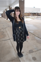 black Target dress - black the gap cardigan - black Target tights - black Target