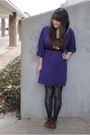 Purple-miley-cyrus-max-azira-dress-green-target-tights-brown-urban-outfitter