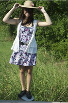 white Mango vest - black Urban Outfitters shoes - pink Urban Outfitters dress -
