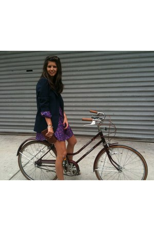purple Sunner dress - navy Aqua blazer