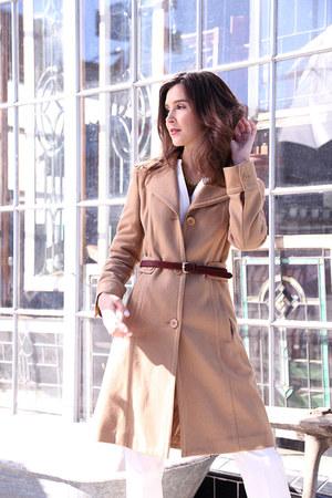 Halogen coat - Manolo Blahnik heels - banana republic necklace