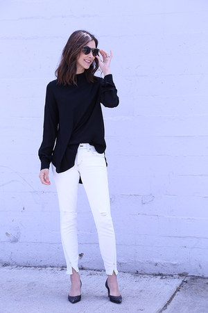 AMO Denim jeans - COS shirt - YSL heels