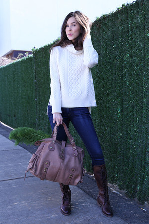 Chloe bag - Vintage Shoe Co boots - rag & bone jeans - madewell sweater