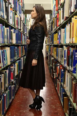 lanvin boots - Maje jacket - Zara skirt - banana republic top