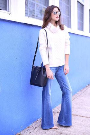 madewell jeans - madewell sweater - Mansur Gavriel bag