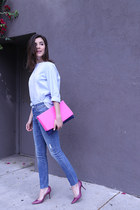 mother jeans - COS shirt - Jimmy Choo heels