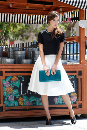 Zara skirt - Max Studio boots - banana republic bag - banana republic top