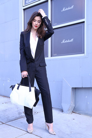 Niki English bag - Zara shirt - Stella McCartney romper - Valentino heels
