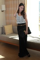 maxi skirt Urban Outfitters skirt - calvin klein shoes - Rebecca Minkoff bag