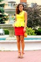 yellow Choies blouse
