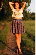 OASAP t-shirt - second hand skirt