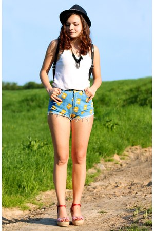 light blue simpson shorts