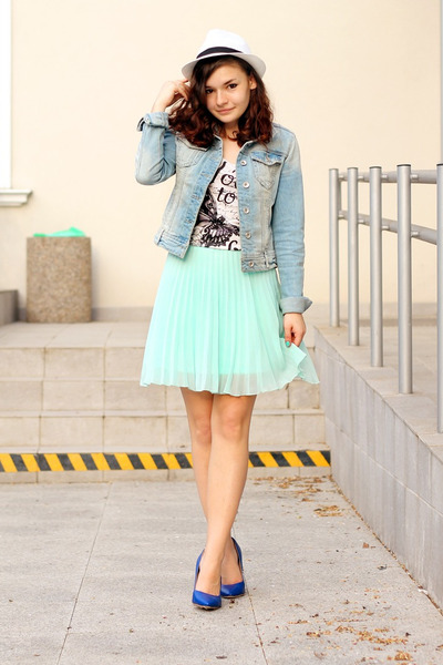 no name skirt - denim Stradivarius jacket