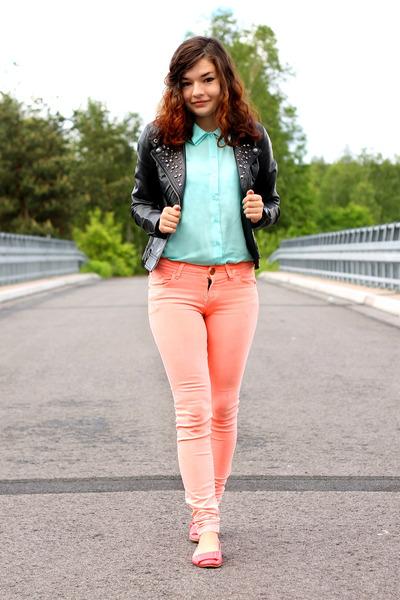 aquamarine Ahaishoppind shirt - vest - Sheinside pants