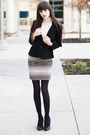 Ivory-lace-turleneck-sweater-black-blazer-black-shirt-black-tights