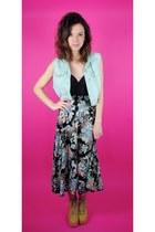 vintage skirt - vintage vest