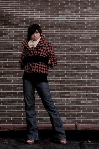 Priorities Clothing from Bluefly jacket - JCrew scarf - banana republic shirt -