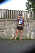 payless shoes - Abercrombie sweater - forever 21 skirt - Anthropologie belt