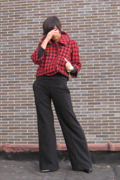 J Crew shirt - Priorities from Bluefly coat - Express pants - Kenneth Cole shoes