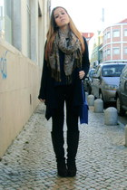 blue Primark bag - dark brown Calado Guimares boots - black Primark jeans