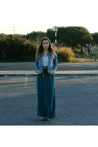 jean jacket Zara jacket - vintage top - Primark skirt - Primark belt
