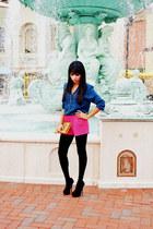 hot pink hot pink H&M shorts - mustard mustard Urban Expressions purse