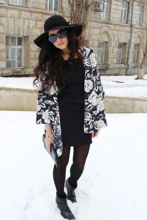 vintage jacket - Zara boots - Sova dress - H&M hat