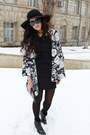 Zara-boots-sova-dress-h-m-hat-vintage-jacket