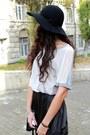 Black-h-m-hat-black-sisley-bag-silver-vero-moda-blouse