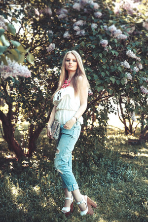 Zara jeans - Topshop bag - Topshop sandals - Zara top - zeroUV glasses