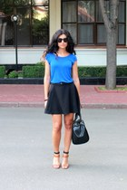 black Zara bag - brown Mango sunglasses - burnt orange Zara heels