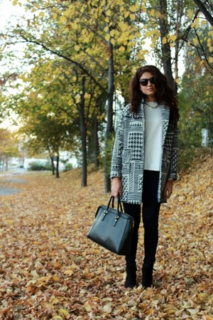 Zara coat - Incity sweater - united colors of benetton bag