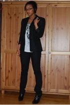 thrifted blazer - f21 shirt - f21 jeans - Colin Stuart boots