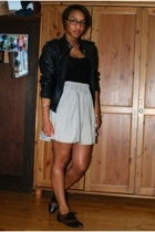 vintage jacket - American Apparel dress - handmade skirt - bruno valenti shoes