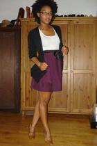 sweater - skirt - DIY skirt - emporio armani shoes