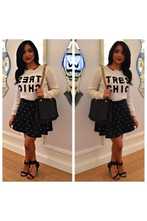 white tres chic Forever 21 sweater