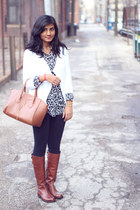 brown Vince Camuto boots - black Forever 21 leggings - brown Ebay bag