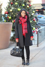 Ankle-boots-urban-outfitters-boots-wool-macys-coat-black-skinny-asos-jeans