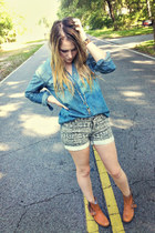 tribal Urban Outfitters shorts - motorcycle Dolce Vita boots