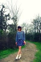 ankle vintage boots - cat Zara dress - fedora Original Penguin hat - bucket Zara
