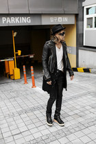 studded BYTHER hat - BYTHER jacket - black tights BYTHER pants