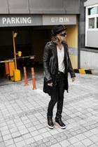 studded BYTHER hat - BYTHER jacket - black tights BYTHER pants