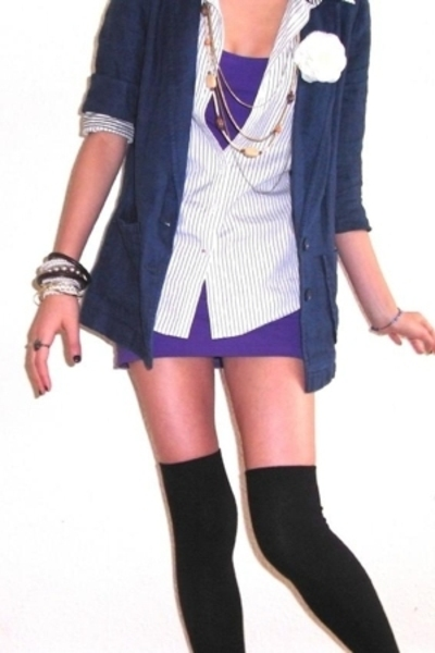 Topshop blazer - Tommy Hilfiger shirt - Topshop dress - asoscom socks
