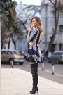 Missguided-boots-romwe-dress