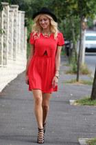 abelle dress - H&M hat - romwe accessories - Zara sandals