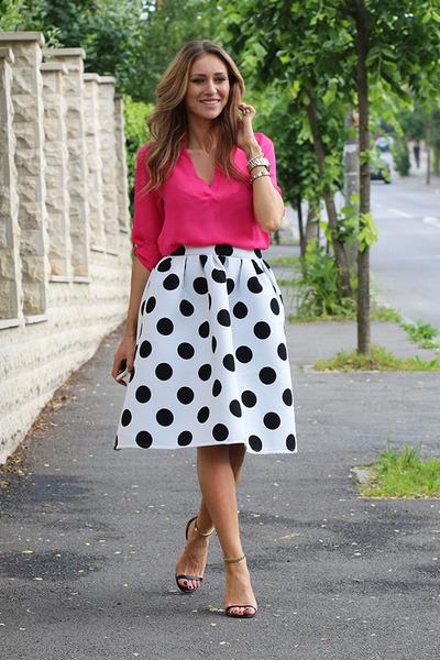 Sheinside skirt - Sheinside blouse - il passo heels