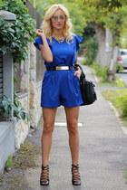 romwe bag - Sheinside dress - romwe accessories - Zara sandals