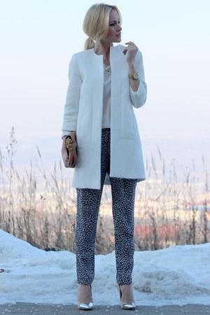 Zara coat - Zara blouse - Zara pants - Zara heels